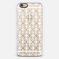 Mermaid's Braids - Icy White on Transparent iPhone 6 case by Micklyn Le Feuvre | Casetify