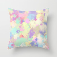 splash of color; Throw Pillow by Pink Berry Patterns