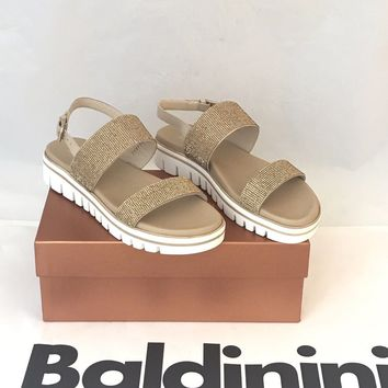 NIB $449 Baldinini Women's Sandals Canapa 8 US (38.5 Eu) 799935 Made in Italy