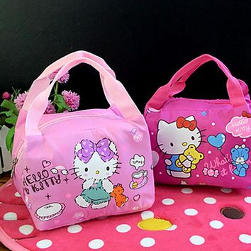 New Hello kitty Thermal Picnic Cooler Insulated Portable Bag Hello Kitty Travel Bag Kids yey-6
