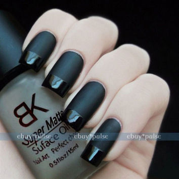 15ml Nail Art Polish Magic Oil Color Supper Matte Dull Effect Finisher Top Coat