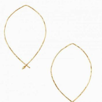 Hammered Wire Large Hoops