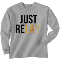 Lacrosse T-Shirt Long Sleeve Just Relax