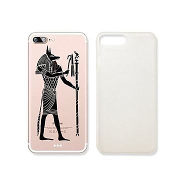 Egyptian God Anubis Clear Transparent Plastic Phone Case for iphone 7PLUS_ SUPERTRAMPshop (iphone 7 plus)