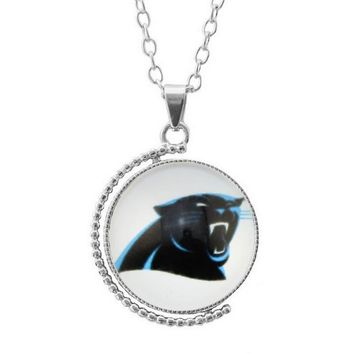 New Arrival Time Gem Glass Pendant 3Style Sports Team Carolina Panthers Pendant Necklace Football