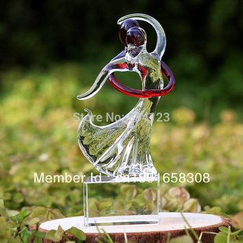 Valentine' Gift -Dancing Couples !  Love glass Sculpture as Birthday gift /home table decoration  + Free shipping