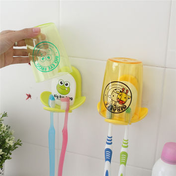Teethbrush Rack Cartoons Couple Waterproof Set [6283276870]
