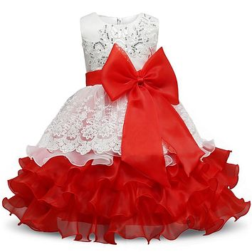 New Brand Baby Child Graduaton Tutu Dress For Girl Birthday Wear Ruffles Formal Kids Party Costume Toddler Girl Christening Gown