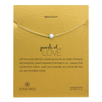 Small Button Pearl Love Bracelet, Gold-Dipped | Dogeared