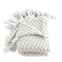 Judy Cream Knitted Throw
