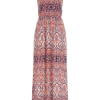 patterned maxi dress with pockets