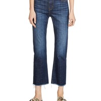 MajeParisse Cropped Flare Jeans in Blue