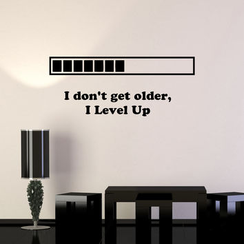Vinyl Decal Quote Gaming Video Game Playroom Funny Decor Wall Stickers (ig2758)