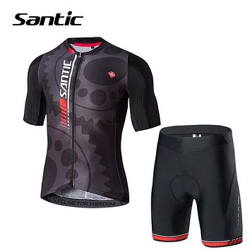 Men's Breathable Short-Sleeve Jersey & Pants Cycling Set
