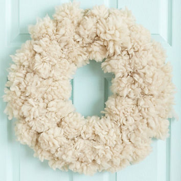 Fluffed Wool Wreath