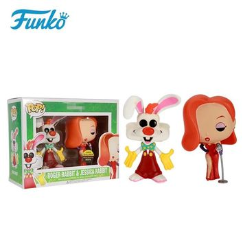 Exclusive Funko pop Roger Rabbit & Jessica Rabbit 2 pack Vinyl Figures Collectible