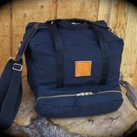 Ruby River Range Bag, Black Canvas Shooting Bag, Ammo Bag, Photographer's Bag, Yoga Bag, Weekend Bag, Bottom Lashing Points