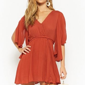 Surplice Mini Dress