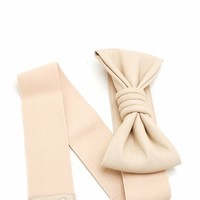 leatherette bow stretch belt $8.10 in BEIGE BLACK CORAL RED SEAFOAM - Seafoam Green | GoJane.com