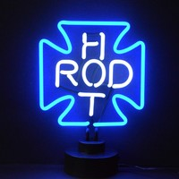Hot Rod Cross Neon Sculpture