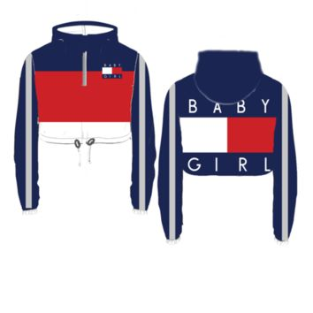 Baby Girl Crop Windbreaker - Pre Order from THUG AVE