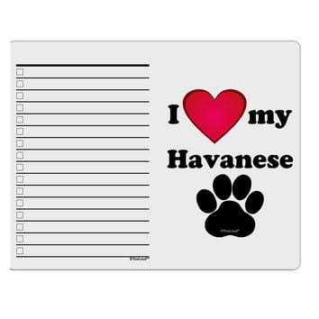 I Heart My Havanese To Do Shopping List Dry Erase Board by TooLoud