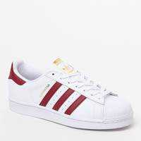 adidas Women's Burgundy & White Superstar Sneakers at PacSun.com