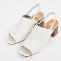 River Island slingback mules with block heel at asos.com