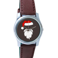 Minimal Santa Claus Illustration Wrist Watch
