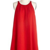 ModCloth Mid-length Sleeveless Shift All-Around Allure Dress