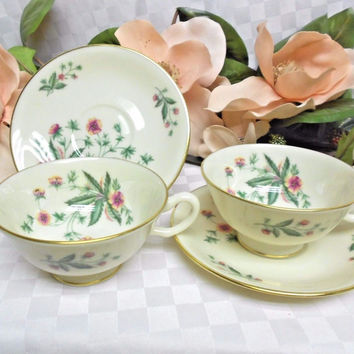Lenox, China Dinnerware Country Garden pattern #W302 Set 2 Cup(s) & Saucer(s)