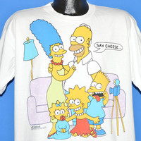 80s The Simpsons Say Cheese t-shirt Extra Large