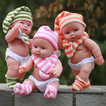 Soft dolls Talking baby toy silicone reborn dolls Into the water for bathing baby Children's educational toys Children's gift