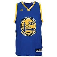 Stephen Curry Men's Blue Golden State Warriors adidas Swingman Jersey