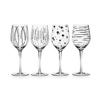 Mikasa Cheers Platinum Metallic Wine Glassees, Set of 4 - Platinum