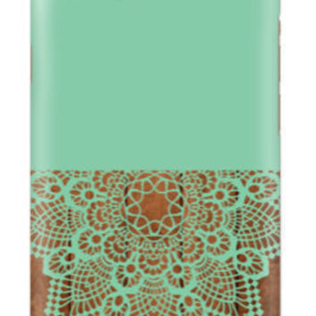 iPhone 6 Case , Mint Lace Wood case , Teal Marble iPhone case, iPhone 5c case, multi color cell case, cellcasebythatsnancy