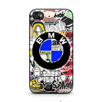 BMW STICKER BOMB iPhone 4 / 4S Case Cover