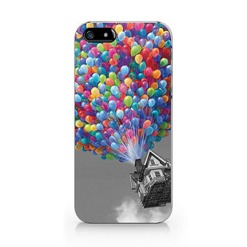 Vintage house fly with balloons iPhone 5 5S case, iPhone 4 4S case, Free shipping M-142