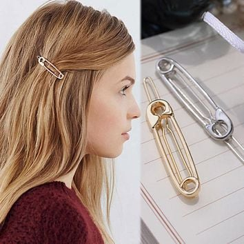 LNRRABC Bridesmaid *Bobby Hair Pin Paperclip Wedding Headwear Hair Clip Hairpin Hair Accessory Metal
