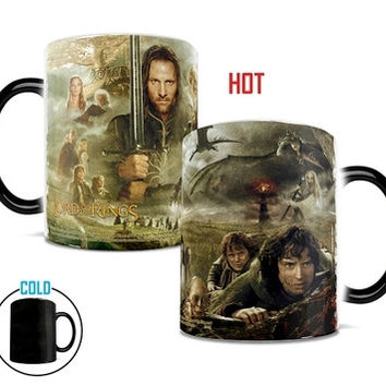 New arrival-  Lord of the Rings  color changing mug magic mugs coffee mug for friend children gift