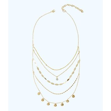 Sunkissed Delicate Layers Necklace | 30736-goldmetallic | Lilly Pulitzer
