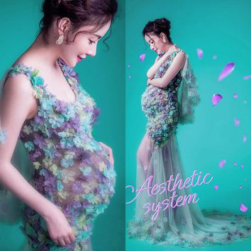 RQ New Maternity Photography Props Pregnancy Clothes Maternity photography Dress Sexy Maternity Dress For Pregnancy women Q2