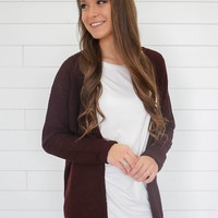 For The First Time Cardigan - Merlot
