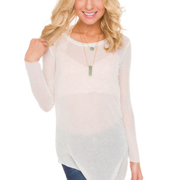 Angeline Top in Ivory