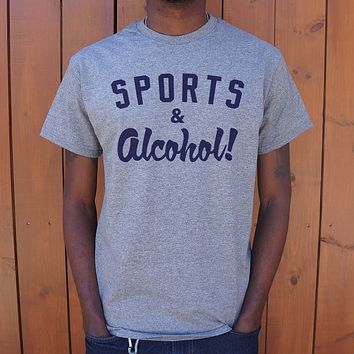 Mens Sports And Alcohol T-Shirt