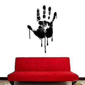 Wall Stickers Vinyl Decal Hand Palm Grunge Style Gothic Decor Unique Gift (z1773)