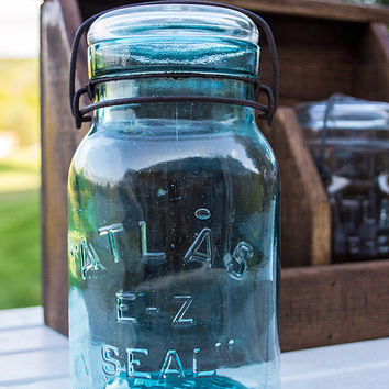 Rustic Shelf - Kitchen Counter Decor - Mason Jar Decor - Vintage Kitchen - Kitchen Counter Storage - Kitchen Organizer - Kitchen Decor