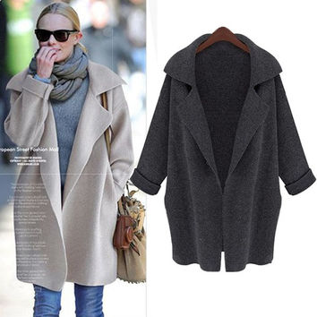 Women Casual Oversized Knitted Bat Sleeve Sweater Coat Knitwear Cardigan Jacket A_L = 1655756868