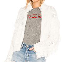 Wildfox Couture Solid Cardigan in White
