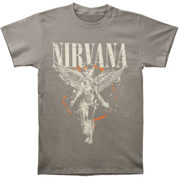 Nirvana Men's  Galaxy In Utero Slim Fit T-shirt Asphalt
